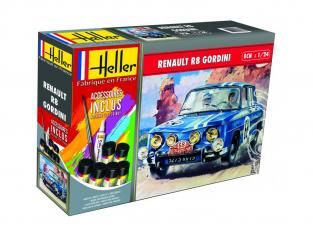 Heller maquette voiture 56700 RENAULT R8 GORDINI inclus peintures principale colle et pinceau 1/24