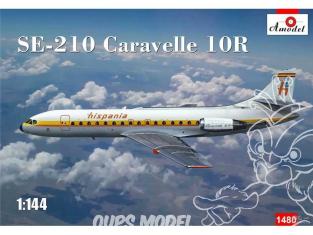 Amodel maquette avion 1480 SUD AVIATION SE-210 CARAVELLE 10R 1982 1/144