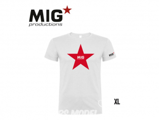 MIG Productions by AK P275 T-Shirt MIG Productions blanc Homme taille XL