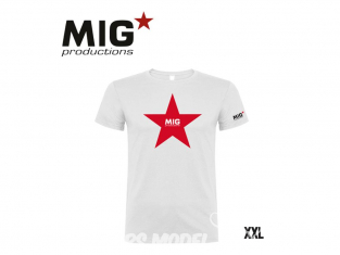MIG Productions by AK P276 T-Shirt MIG Productions blanc Homme taille XXL