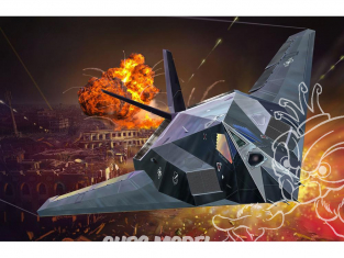 Revell model set 63899 Lockheed Martin F-117A Nighthawk Stealth Fighter inclus peintures principale colle et pinceau 172
