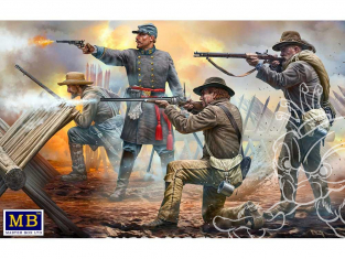 "Master Box maquette figurines 3581 ""DO OR DIE"" 18th North Carolina Infanterie Regiment 1/35"