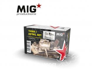 MIG Productions by AK MP72-045 Set de détails Tigre I Début & Fin de production - Trappes et moteur 1/72