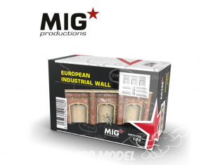 MIG Productions by AK MP72-096 Mur Industriel Européen 1/72