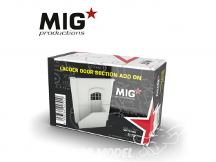 MIG Productions by AK MP72-402 Section de porte avec escalier Add On 1/72