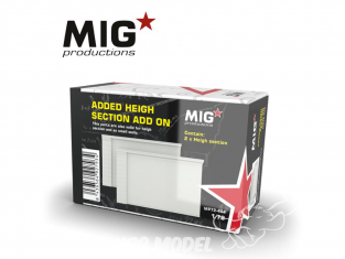 MIG Productions by AK MP72-404 Section haute de mur Add On 1/72