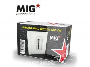 MIG Productions by AK MP72-405 Section de mur avec fenetre Add On 1/72