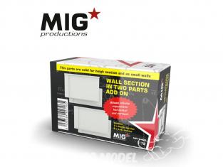 MIG Productions by AK MP72-407 Section de mur en deux parties Add On 1/72
