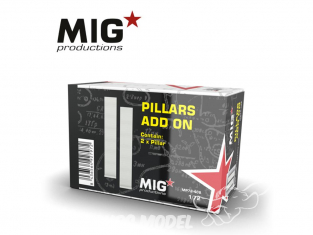 MIG Productions by AK MP72-408 Piliers Add On 1/72
