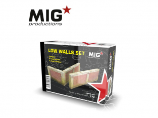 MIG Productions by AK MP72-409 Set de murs bas 1/72