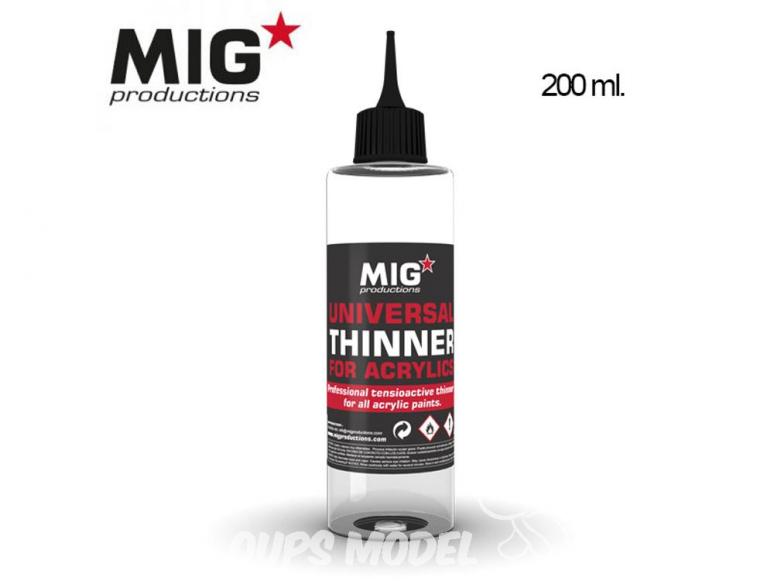 MIG Productions by Ak P263 Diluant universel pour peintures acryliques 200ml
