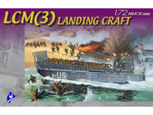 Dragon maquette militaire 7257 LCM(3) Landing Craft 1/72