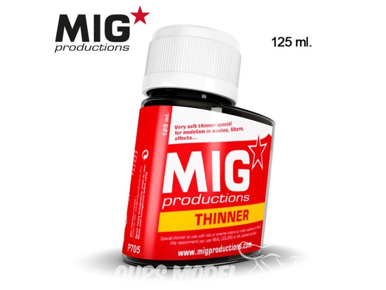 MIG Productions by Ak P705 Diluant pour Enamel et huiles 125ml