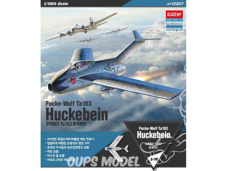 Academy maquette avion 12327 Focke-Wulf Ta183 Huckebein 1/48