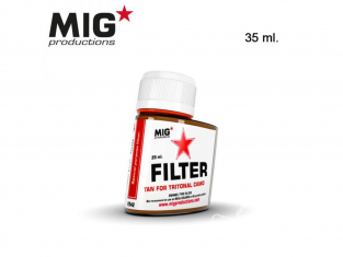 MIG Productions by Ak F242 Filtre Tan pour camouflage 3 Tons 35ml