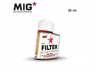 MIG Productions by Ak F400 Filtre gris pour jaune sable Enamel 35ml
