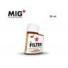 MIG Productions by Ak F401 Filtre Ocre pour sable clair Enamel 35ml