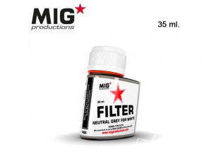 MIG Productions by Ak F404 Filtre gris neutre pour blanc Enamel 35ml