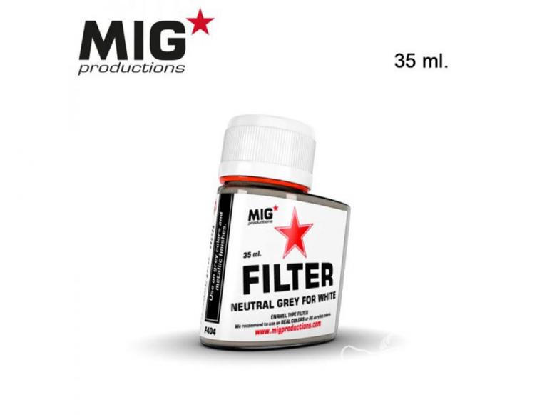 MIG Productions by Ak F404 Filtre gris neutre pour blanc Enamel 35ml
