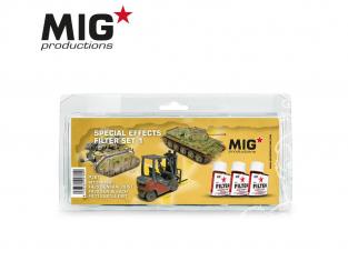 MIG Productions by Ak P267 Set de Filtres enamel Effets Spéciaux Set 1 - 3 x 35ml