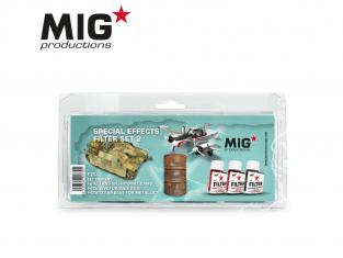 MIG Productions by Ak P268 Set de Filtres enamel Effets Spéciaux Set 2 - 3 x 35ml