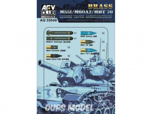 AFV Club accessories militaire 35048 SET DE MUNITIONS DE 152MM pour M60A2/M551/MBT7	 1/35