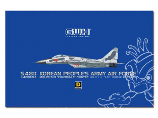"""Great Wal Hobby maquette avion S4811 MiG-29 9-13 """"Fullcrum C"""" Korean Peoples Army Air Force Edition limitée 1/48"""