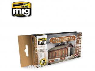 MIG peinture 7177 Set peintures pour Dioramas Urbain 6 x 17ml