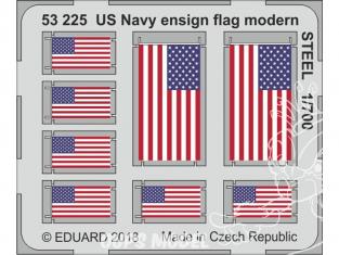 Eduard photodecoupe bateau 53225 Drapeaux US Navy moderne Métal 1/700