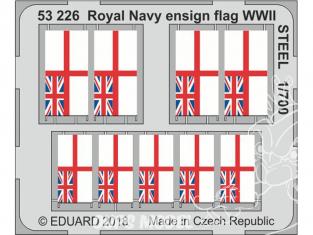 Eduard photodecoupe bateau 53226 Drapeaux Royal Navy WWII Métal 1/700