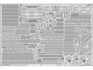 Eduard photodecoupe bateau 53224 CVN-65 USS Enterprise Partie 2 Tamiya 1/350