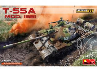 Mini Art maquette militaire 37020 T-55A MODELE 1981 avec KIT INTÉRIEUR 1/35