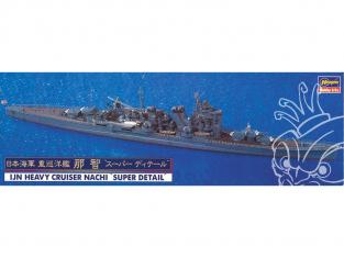"Hasegawa maquette bateau 30018 Marine Japonaise Cruiser lourd Nachi ""Super Detail"" 1/700"