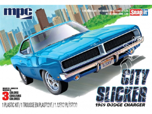 MPC maquette voiture 879 Kit SNAP «City Slicker» Dodge Charger R / T 1969 1/25