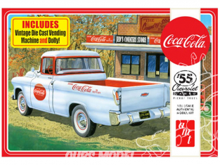 AMT maquette voiture 1094 Chevy Cameo Pickup (Coca-Cola) 1955 1/25