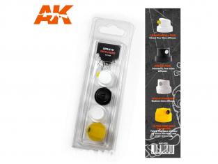 Ak interactive AK1028 Diffuseurs bombes aérosols Set 1