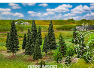 Faller végétation 181540 25 Arbres forêt mixte, petits, assortis