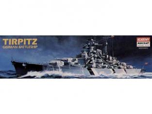 Academy maquette bateau 1438 Tirpitz 1.800