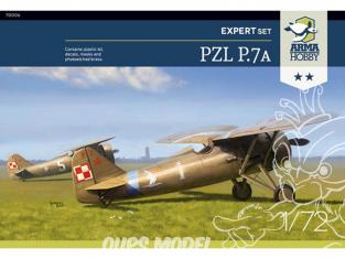 Arma Hobby maquette avion 70006 PZL P.7a Expert Set 1/72