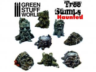 Green Stuff  500394 Souches d'arbres enchantées
