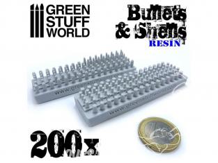 Green Stuff 500516 200x Balles et Douilles en Résine