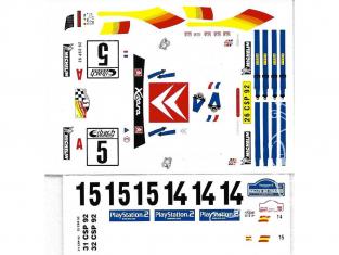 C.B.COM decal 24.141 Xsara WRC 1er Tour de Corse 2001 1/24