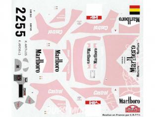 C.B.COM decal 24.22 Toyota GT Four 1er Boucles de Spa 1997 Verreydt et Loix 1/24