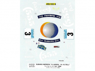 C.B.COM decal 24.119 Subaru Impreza Auriol et Occelli Suede 1996 1/24