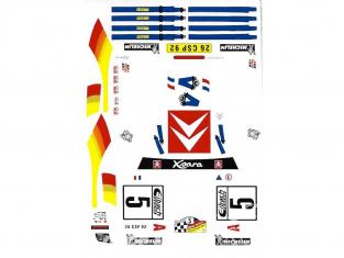 C.B.COM decal 24.134 Xsara WRC Bugalski et Chiaroni 1er allemagne 2001 1/24