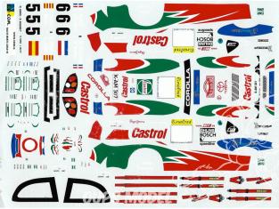 C.B.COM decal 24.86 Toyota Corolla WRC Chine 1999 1/24