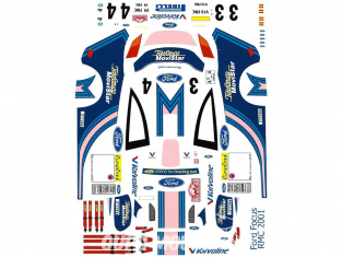 C.B.COM decal 24.143 Focus WRC Officielle Tour de Corse 2001 1/24