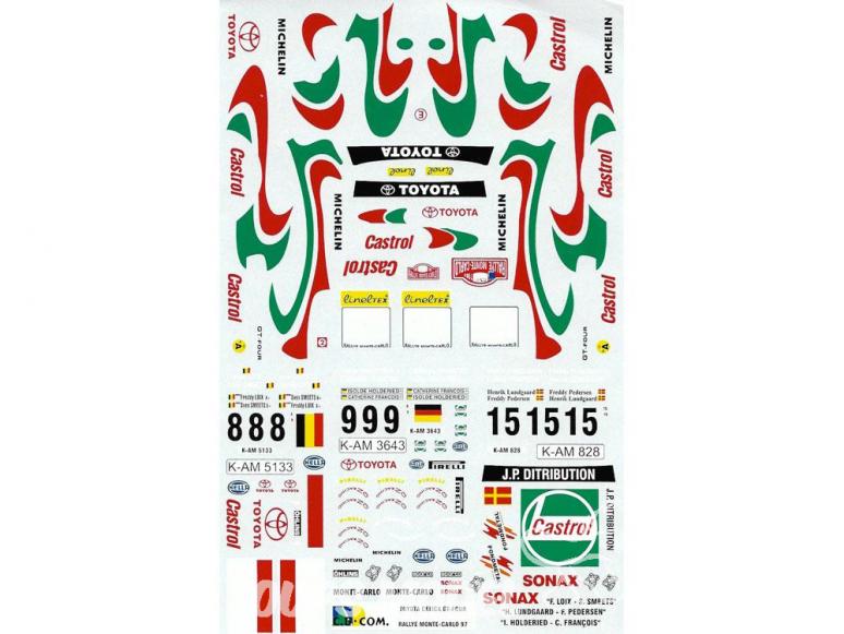 C.B.COM decal 24.44 Toyota GT Four Monte carlo 1997 1/24