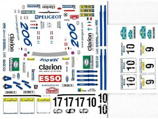 C.B.COM decal 24.96 206 WRC Monte Carlo 2000 1/24