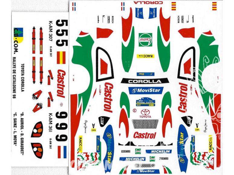 C.B.COM decal 24.68 Toyota Corolla WRC Catalogne 1998 1/24